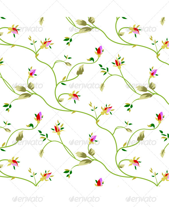 Rose Seamless Pattern - Patterns Decorative