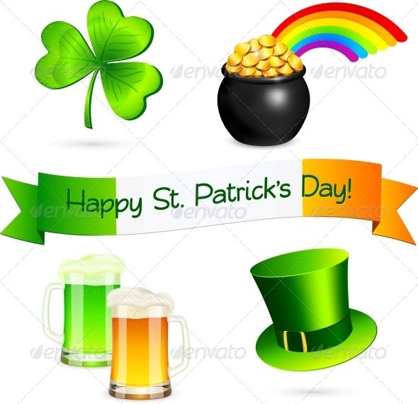 Saint Patrick's Day Design Elements Set - Miscellaneous Seasons/Holidays