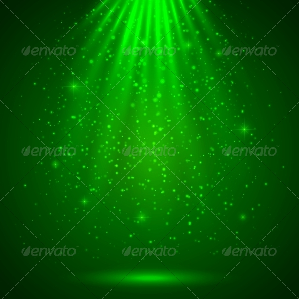 Green Magic Light Abstract Background - Miscellaneous Seasons/Holidays