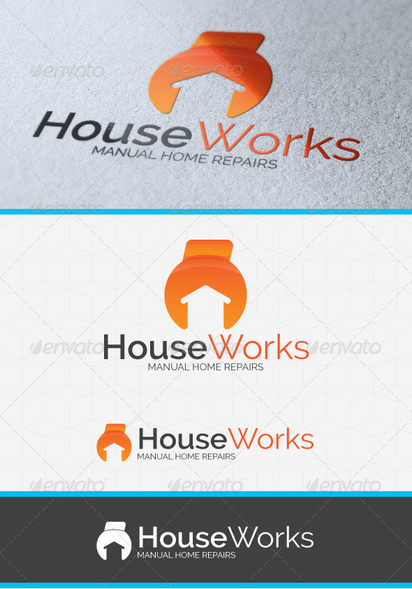 House Works Logo Template - Symbols Logo Templates
