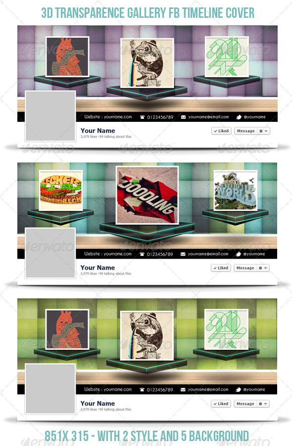 3D Transparence Gallery FB Timeline - Facebook Timeline Covers Social Media