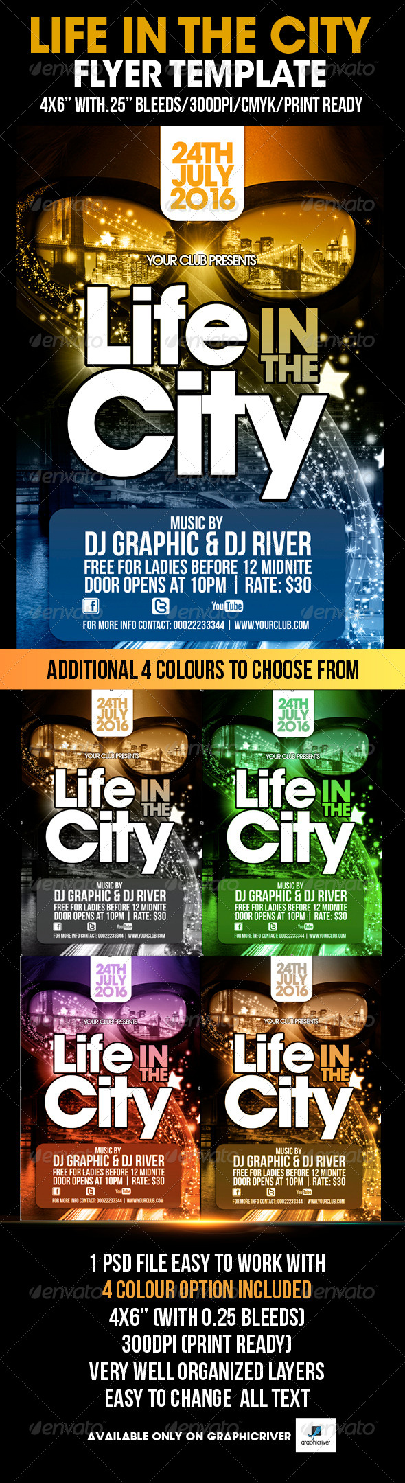 Life In The City Flyer Template - Flyers Print Templates