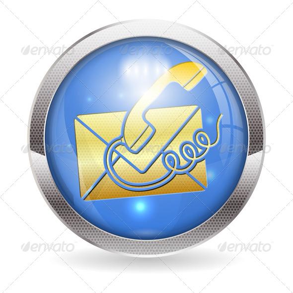 Button Contact Us - Web Elements Vectors