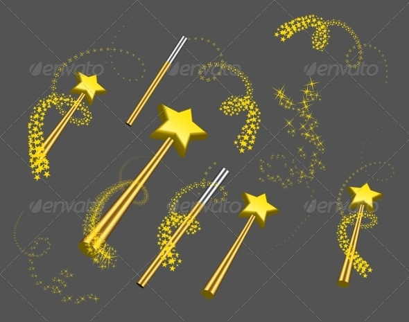 Magic Wand Vector Set - Decorative Symbols Decorative