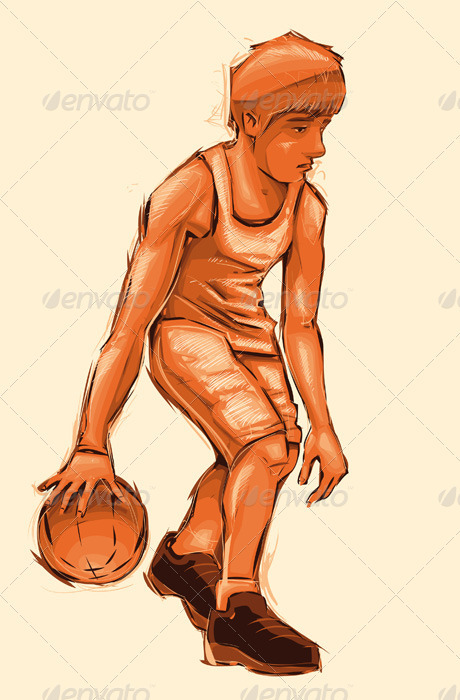 Basket boy. - Sports/Activity Conceptual