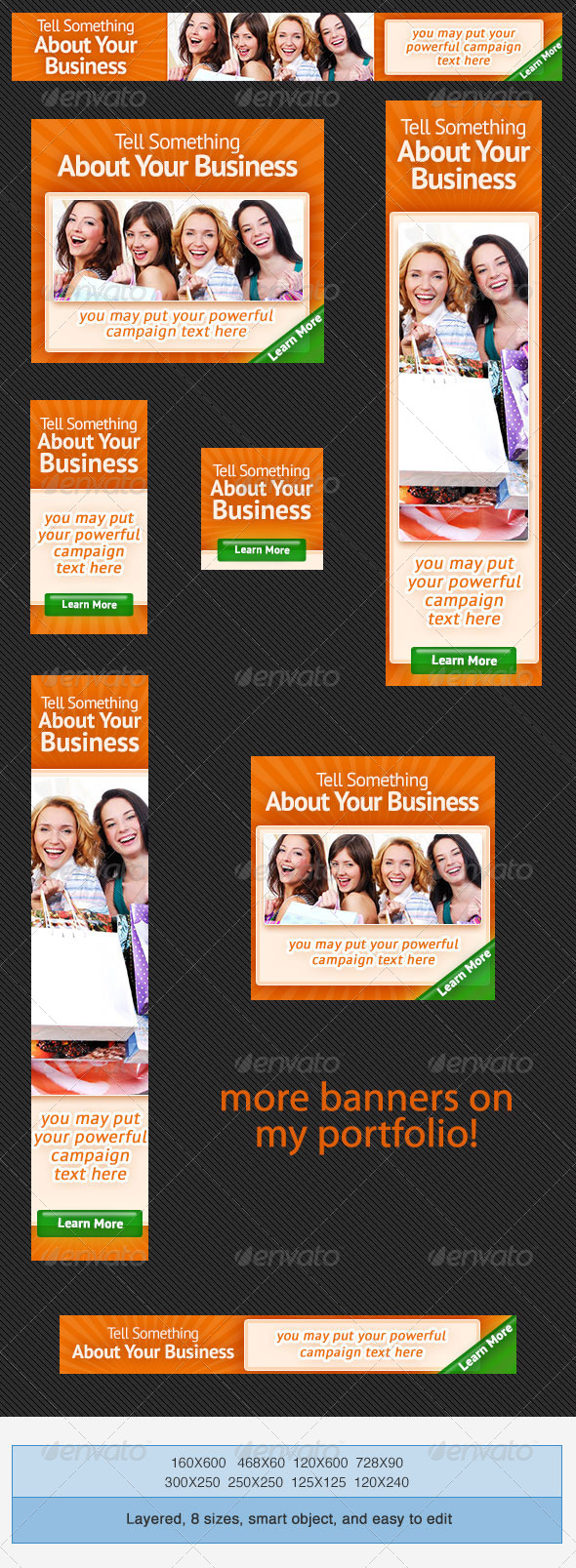 Multipurpose Banner Ad Set - Banners & Ads Web Elements