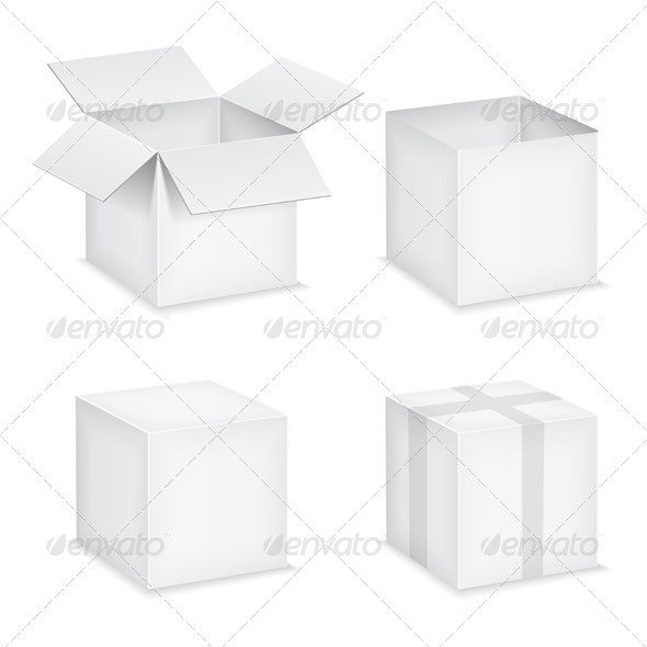 Paper Boxes - Objects Vectors