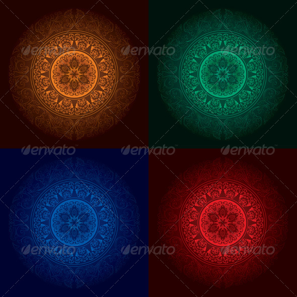 Vector Vintage Abstract Backgrounds - Backgrounds Decorative