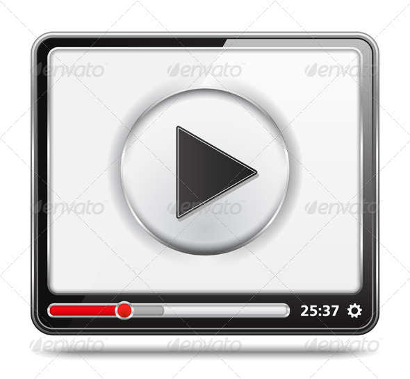 Video Player - Web Elements Vectors