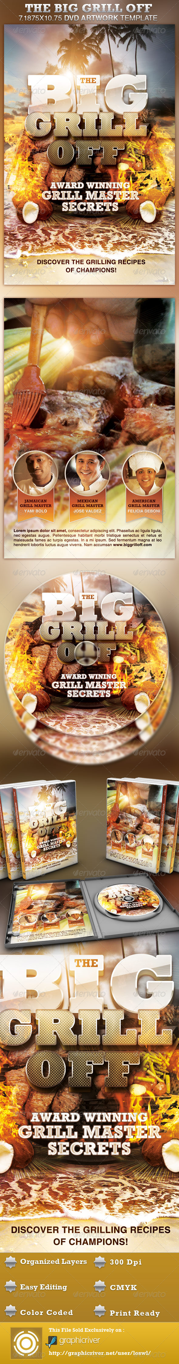 The Big Grill Off DVD Artwork Template - CD & DVD Artwork Print Templates