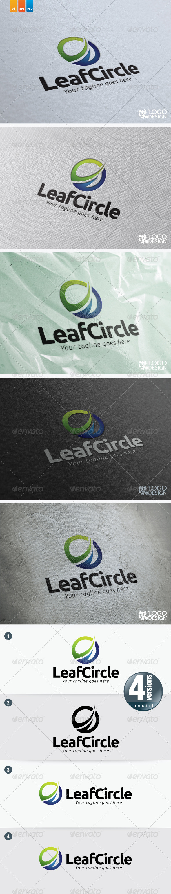 Leaf Circle - Nature Logo Templates