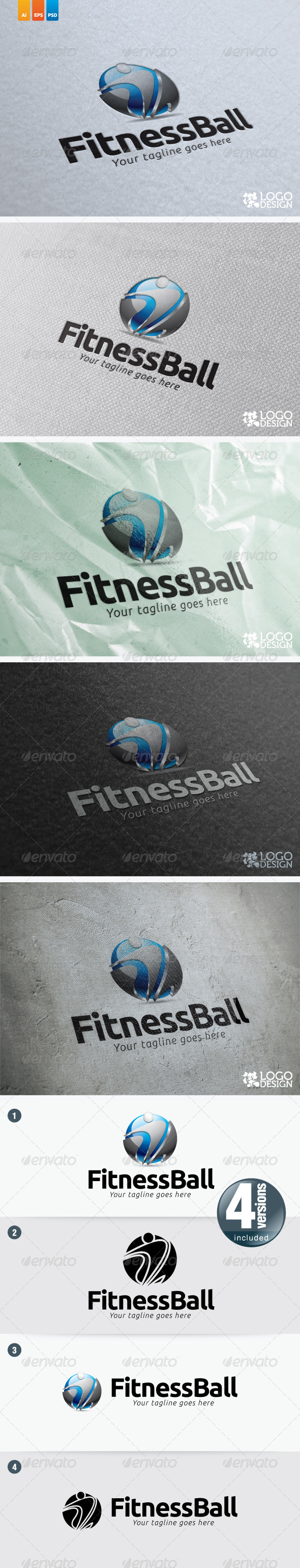 Fitness Ball - Humans Logo Templates