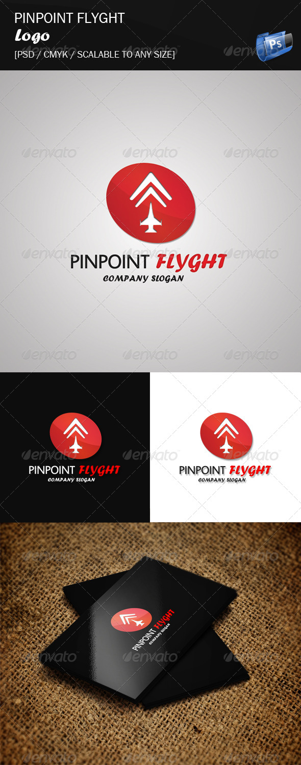 Pinpoint Flyght - Logo Template - Objects Logo Templates