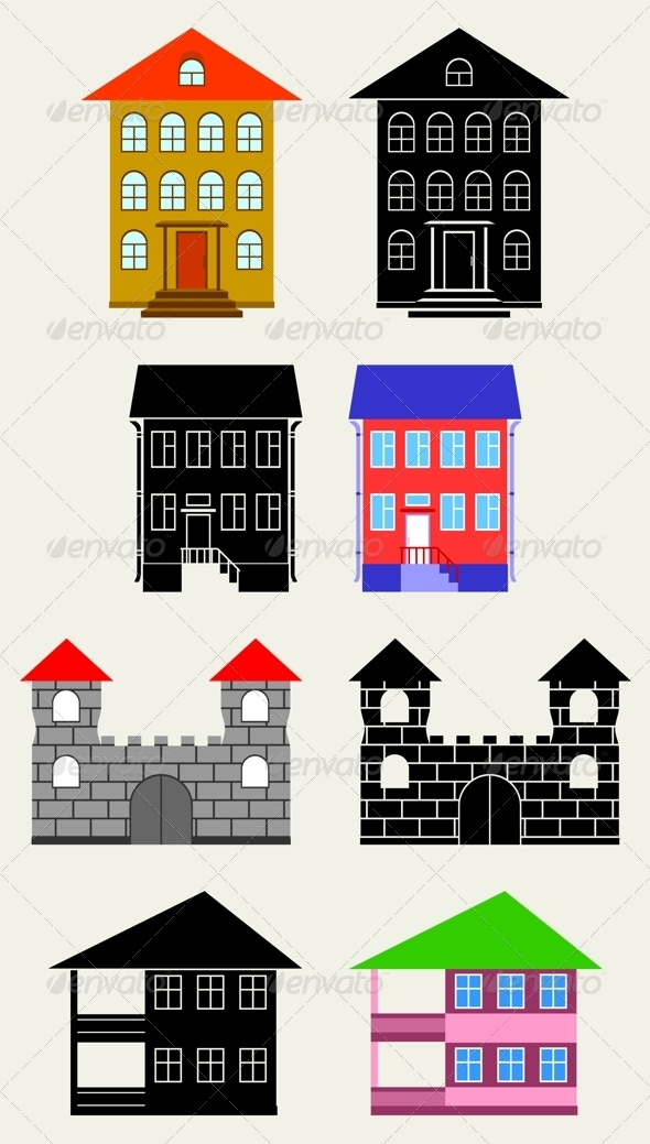 Small Houses - Buildings Objects
