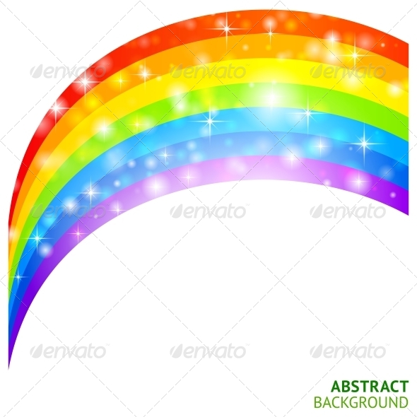Vector Background with Rainbow and Lucky Clover - Seasons Nature