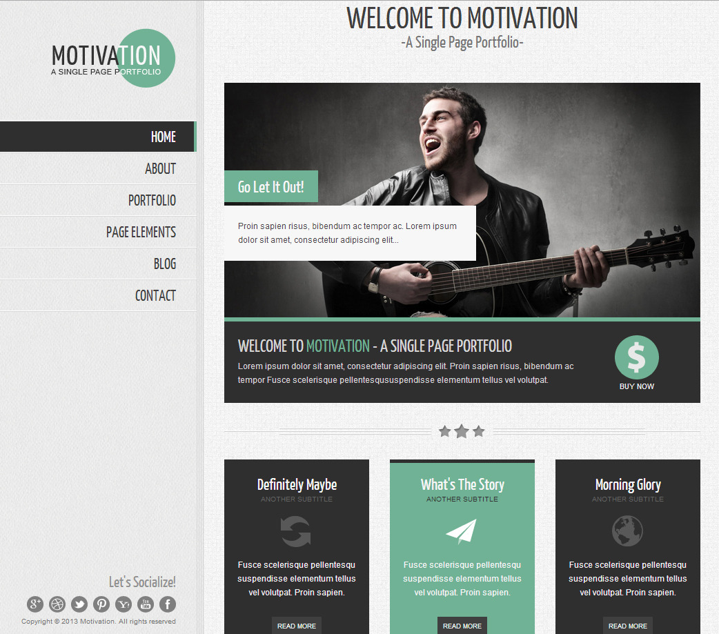 Motivation - Responsive Single Page HTML Template by HedgehogCreative