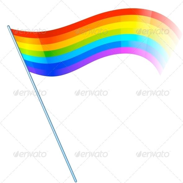 Abstract Vector Rainbow Flag - Seasons Nature