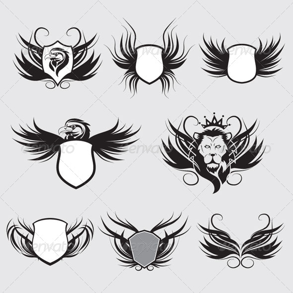 Shield Set - Decorative Symbols Decorative