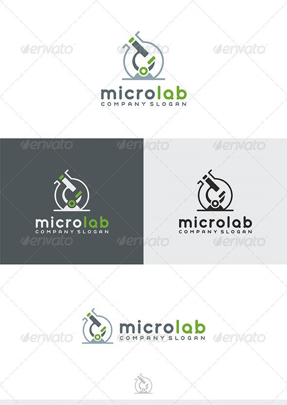 Micro Lab Logo - Vector Abstract