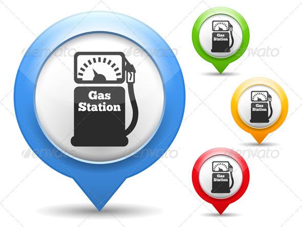 Gas Station Icon - Web Elements Vectors