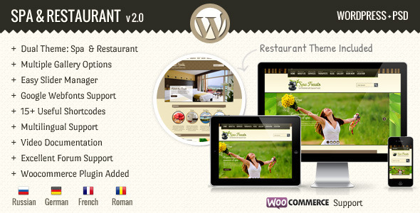 SPA Treats – Spa & Restaurant WooCommerce Theme