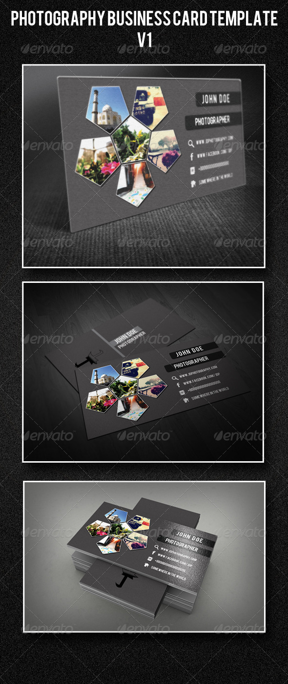 Photography Business Card Template V1 - Corporate Business Cards