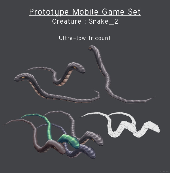 Prototype Mobile Game Set - Creature : Snake_2 - 3DOcean Item for Sale