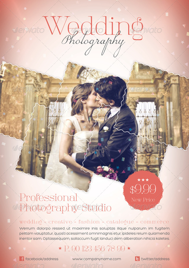 Wedding Photography Flyer Template By Grafilker | Graphicriver