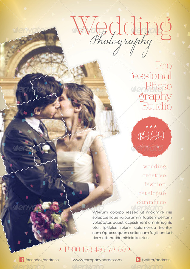 Wedding Photography Flyer Template By Grafilker  Graphicriver