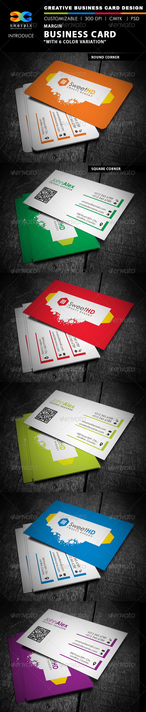 Margin Business Card - Corporate Business Cards