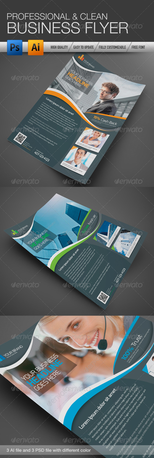 Professional and Clean Business Flyer - Corporate Flyers