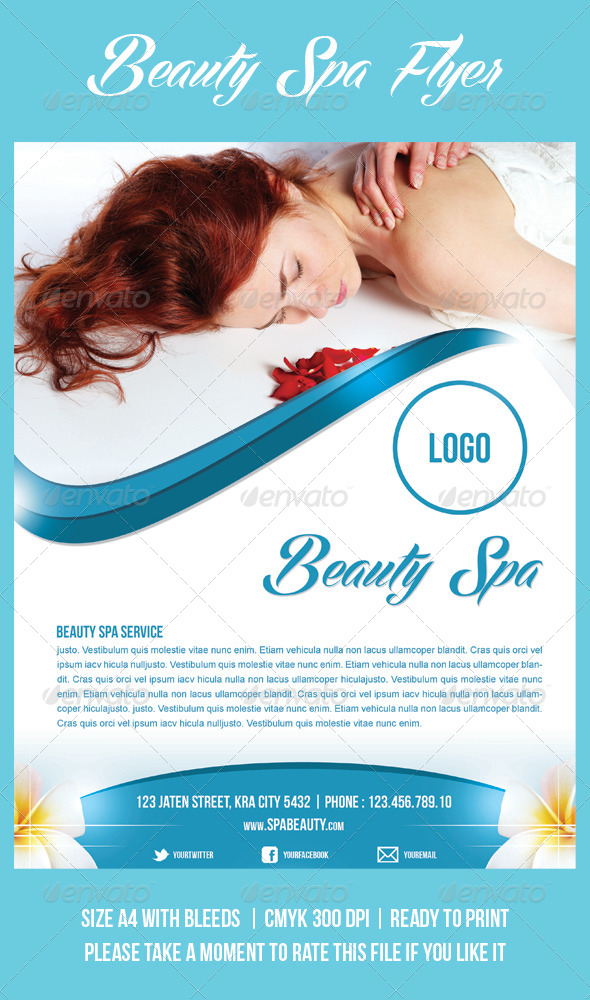 Beauty Spa Flyer - Commerce Flyers