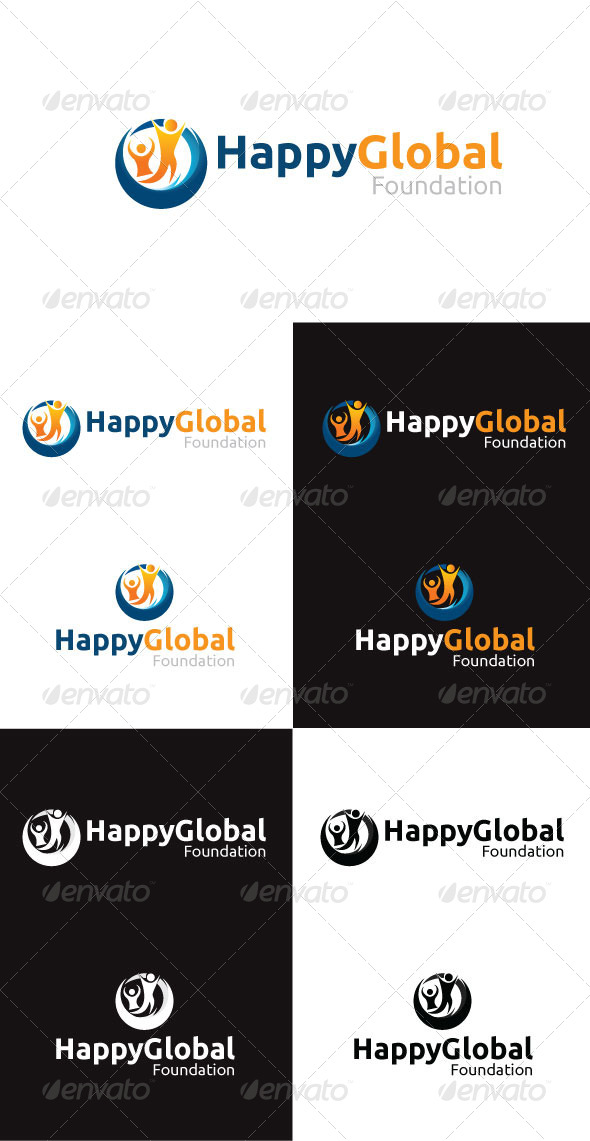 Happy Global Foundation Logo Template - Symbols Logo Templates