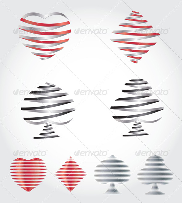 Playing Card Symbols - Decorative Symbols Decorative