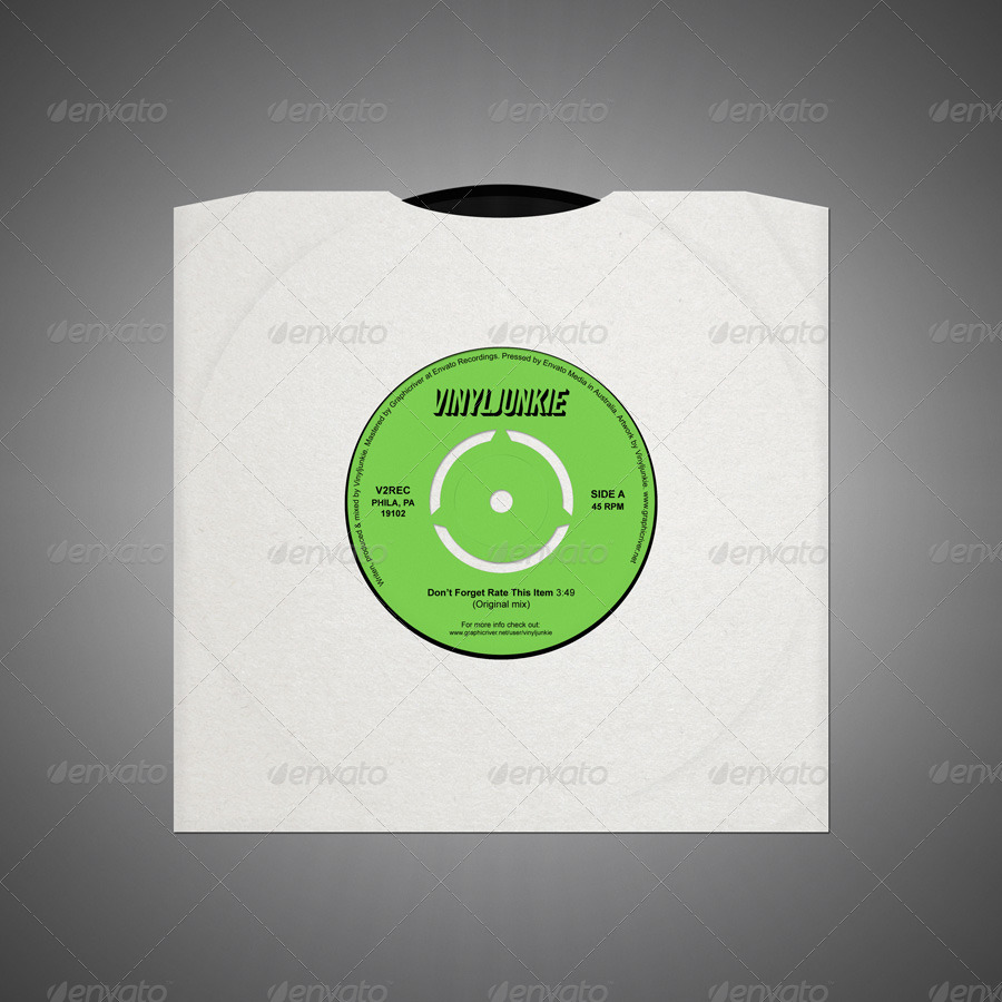 Realistic Vinyl Records With Inner Sleeves by vinyljunkie | GraphicRiver