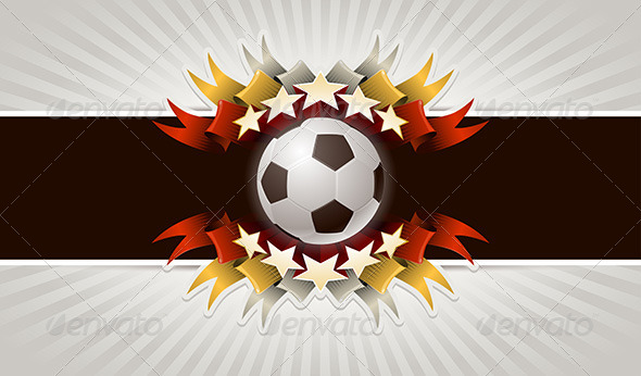 Soccer Ball Stars Banner - Sports/Activity Conceptual