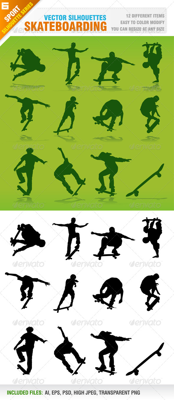 Skateboarding Silhouettes - Sports/Activity Conceptual