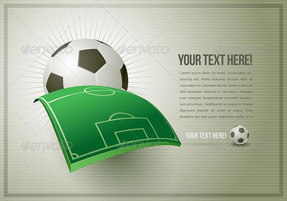 Abstract Soccer Design Template - Sports/Activity Conceptual