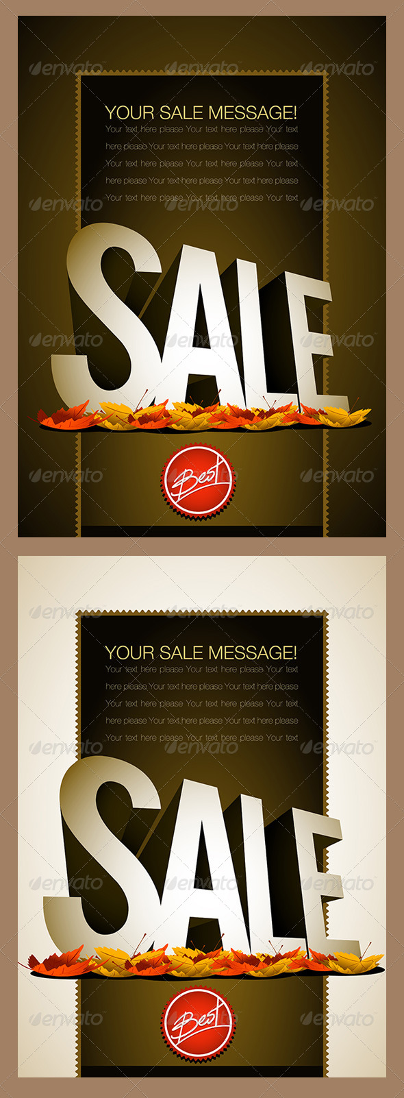 Autumn Sale Poster Design Template - Commercial / Shopping Conceptual