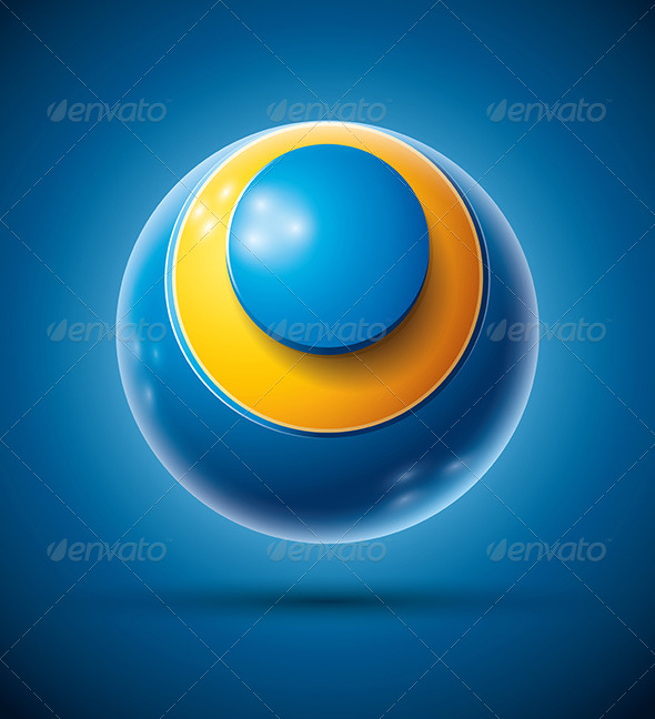 3d Sphere with Letter O - Abstract Conceptual