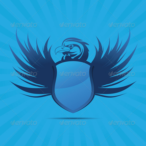 Blue Shield Eagle - Decorative Symbols Decorative