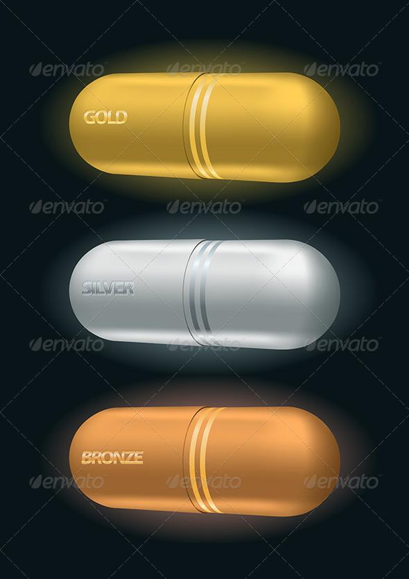 Pharmaceutical Capsule Awards - Health/Medicine Conceptual