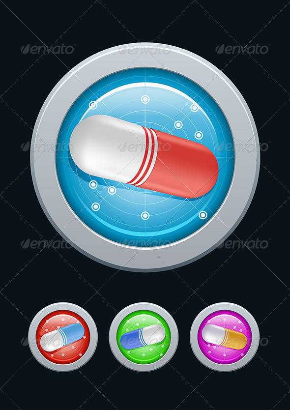 Pills Radar - Health/Medicine Conceptual