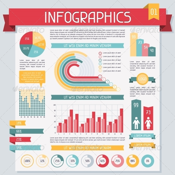 Infographics Elements Collection. Set 1. - Infographics