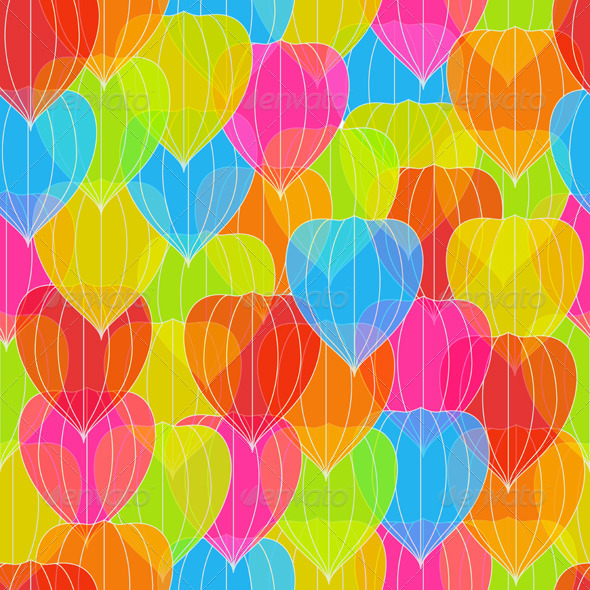 Colorful Physalis - Patterns Decorative