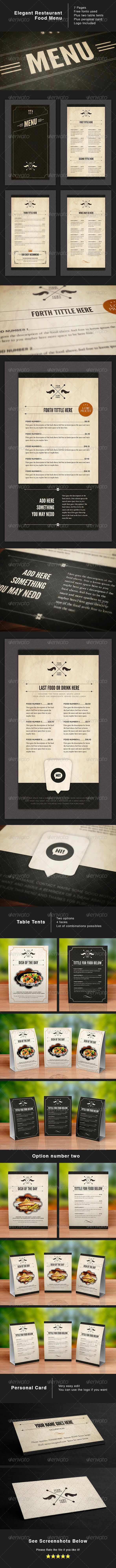 Design Food Stationery - Food Menus Print Templates