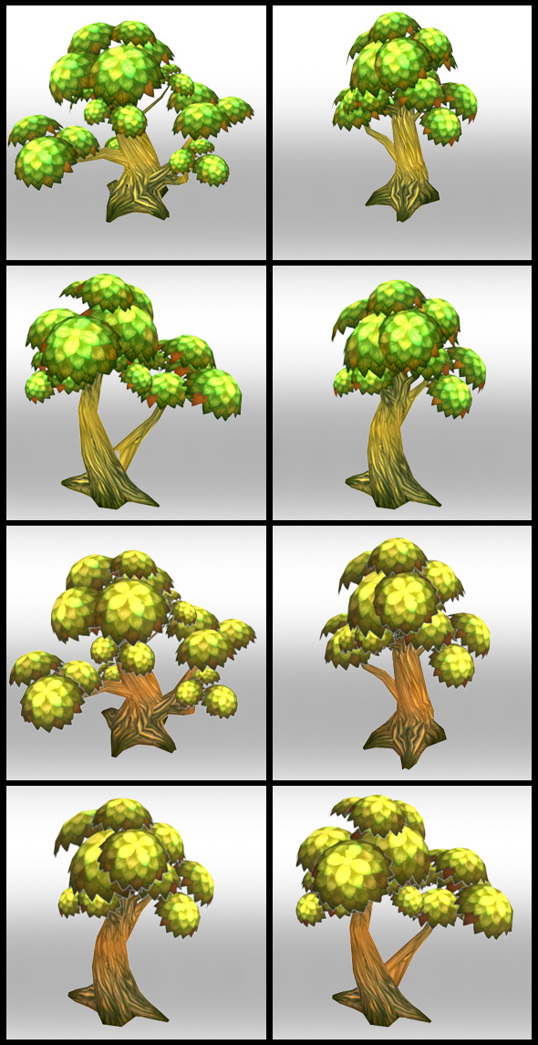 Lowpoly Trees Toon pack 1 - 3DOcean Item for Sale
