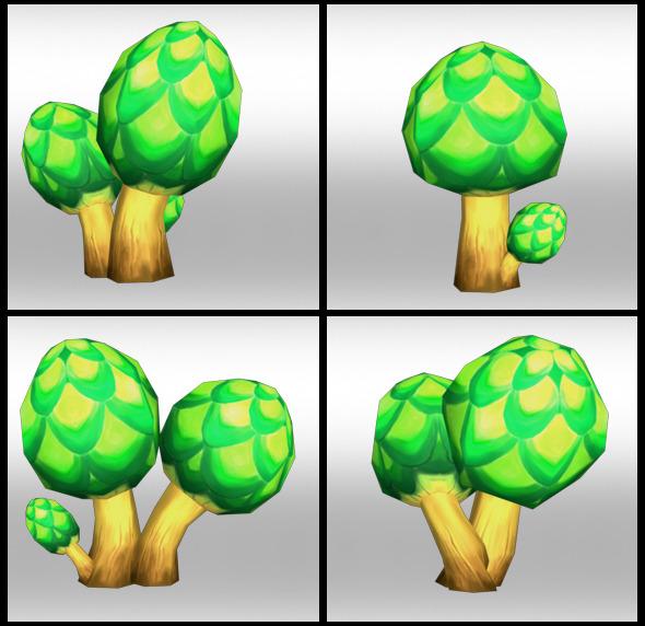Lowpoly Trees Toon pack 2 - 3DOcean Item for Sale
