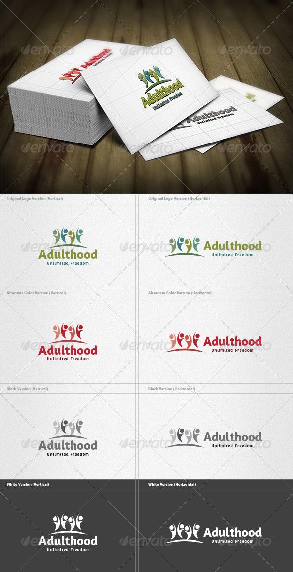 Adulthood Logo - Humans Logo Templates