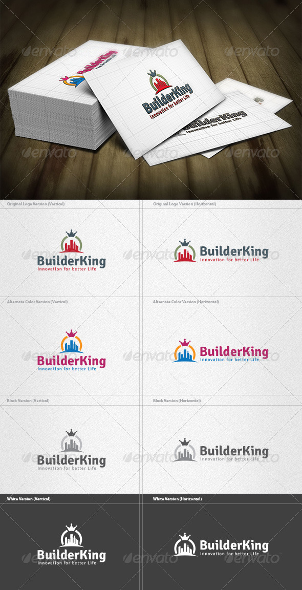 King Builder Logo - Buildings Logo Templates